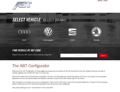 Le nouveau configurateur d'ABT Sportsline est en ligne