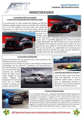 Newsletter Numéro 3 – ABT Sportsline France